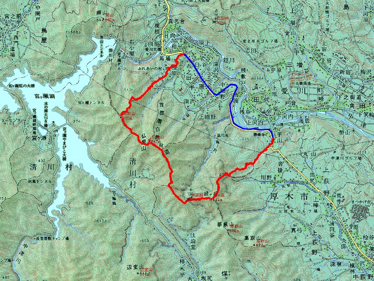 東丹沢の中津山地あるいは相州アルプス 半分縦走: マダムAの放浪記